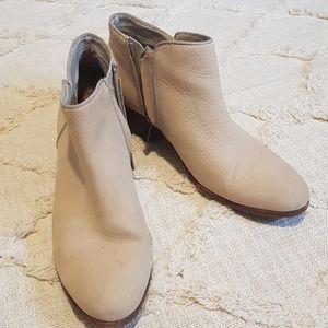 Sam Edelman beige ankle boots